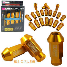 D1-SPEC GOLD JDM WHEEL LUG NUT FOR HONDA ACURA INTEGRA M12 X 1.5MM 20PCS NEW