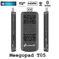 MEEGOPAD T05 Mini PC Windows 10 Quad Core Computer Stick BT4.0 Intel Atom Z3735F