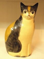 "N. S. GUSTIN ~ Large SITTING CAT Pottery Statue Figurine ~ 13.5"" H ~ USA"