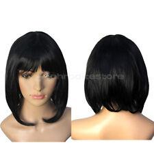 New Stylish BOB Style Sexy Black Short Straight Cosplay Women Hair Full Wig