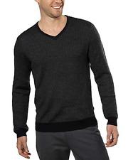 Calvin Klein Men's Merino Wool V-Neck Sweater, Black Combo, Size M