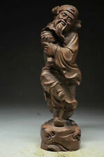 100% Chinese Agarwood wood Skillfully carving statue - Senior citizens NRR