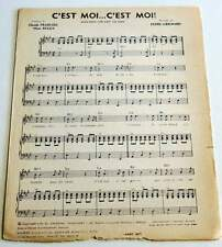 Partition sheet music CLAUDE FRANCOIS : C'est Moi... C'est Moi * 60's