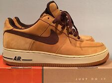 Authentic Nike Air Force 1 One low WP waterproof wheat tisci 2004 9.5 gum bottom