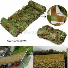 3x 5m Hunting Camping Jungle Cover Camouflage Net Woodlands Blinds Military Camo