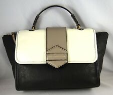 MARC BY MARC JACOBS FLIPPING OUT BLACK MULTI LEATHER SMALL SATCHEL BAG