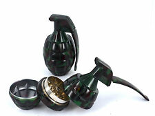 Grinder 3 Part Grenade Styled Magnetic Crusher Tobacco Weed Herbs With Storage