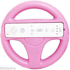 PINK WII RACING STEERING WHEEL REMOTE CONTROLLER NEW