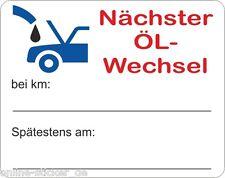 """250 Aufkleber """"Nächster Ölwechsel"""" Auto Service ca50x40mm, Serviceaufkleber"""