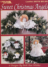 Sweet Christmas Angels ~ 6 Angel Designs crochet patterns OOP new