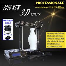 STAMPANTE 3D in ALLUMINIO, AUTOLIVELLANTE, LCD, FORMATO EXTRA LARGE + SCONTO