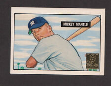 1996 Topps MICKEY MANTLE #1 of 19 1951 Bowman Rookie RC Reprint