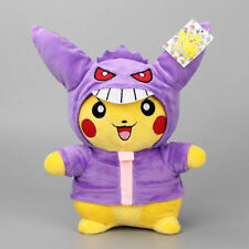 Pokemon Gengar Pikachu Plush Toy Cosplay Stuffed Dolls Child Birthday Gift 28cm
