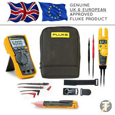 Fluke 115 True RMS Multimeter + T5-1000 + TPAK3 + 1AC + C115 Case (FLU-K-CS3)