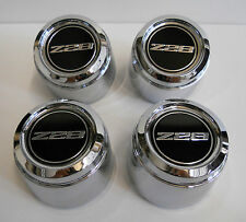 79 CHEVY CAMARO Z28 15 x 7 TURBINE ALUMINUM WHEEL CENTER CAP SET 4 CHROME CAPS