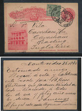 Uruguay  uprated postal  card  to England   1905            MS0929
