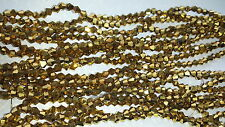 Joblot 10 strings (1200 beads) 4mm Shiny Gold Bicone Crystal beads new