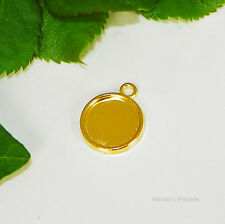12mm Round Gold Plated Cabochon (Cab) Drop Setting (#A2-46)