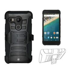 Beyond Cell Shell Case Armor Kombo For LG Google Nexus 5X 2015 Edition Carbon...