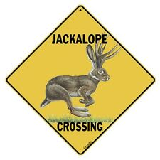 "JACKALOPE Crossing Sign, 12"" on sides, 16"" on diagonal, Indoor/Outdoor Use"