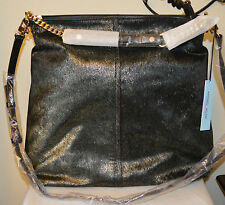 Antonio Melani women's handbag purse Leather Haircalf Hobo NWT MSRP $229 Black