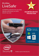 McAfee LiveSafe Internet Security 2016 Unlimited Devices Protected **NEW**