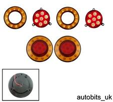 2 X REAR TAIL INDICATOR STOP AMBER RED LED LIGHTS INNER OUTER RING 24V NEOPLAN