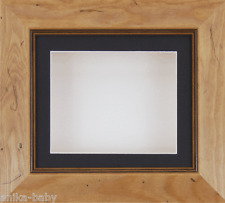 "6x5"" Rustic Pine frame Deep Box Display Medals Objects 3D Art Black Mount White"