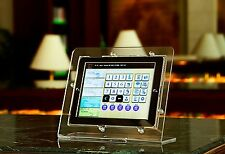 Clear Acrylic Kiosk Stand POS Mount Kit for iPad 2 3 4 fits Square Reader