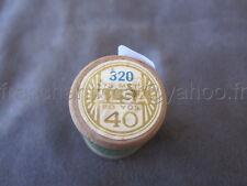 R224 Mercerie vintage ancienne bobine BOIS fil à coudre ALSA 320 DMC vert 40 73m