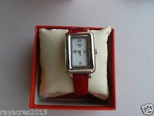 Kenneth Jay Lane Women's 0901S-3RED 900 Series Leather Watch
