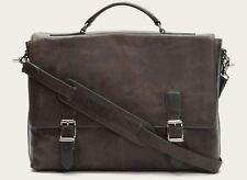 Frye Men's Logan Top Handle Messenger Briefcase Leather Bag Slate