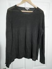 Emporio Armani Army Green Size 38 100% Linen Jumper. Good Condition