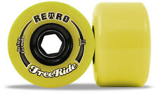 ABEC11 RETRO FREERIDE 72MM 83A yellow longboard skateboard SLIDE wheels freeride