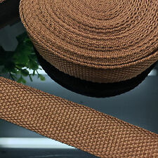 """NEW DIY 50 Yards 1"""" 25mm Width Brown Nylon Webbing Strapping Sewing craft S16"""