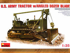 Miniart 1:35 D7 With Angled Dozer Blade U.S. Army Tractor Model Kit