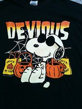 Snoopy Halloween T Shirt Peanuts Medium Black Devious