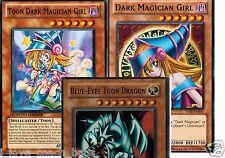 Blue-Eyes Toon Dragon 3-Card Set:+ Toon Dark Magician Girl  + Toon World  YUGIOH
