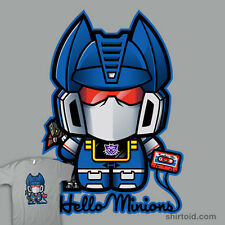 HELLO MINIONS Transformers Ravage Kitty Decepticon dvd RARE NEW TEEFURY T-SHIRT!