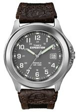 Timex T40091 Men's Indiglo Expedition Field Nylon Leather Combo Analog Watch