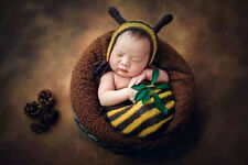 Costume Buzzy Bumble Bee Newborn Photography Prop Set Knit Cocoon Hat Baby Photo