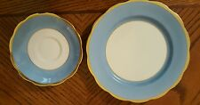 ROYAL ALBERT Crown China England Saucer & Salad Plate Heavy Gold