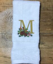 Christmas Monogrammed Hand Towel - Personalized Hand Towels - Guest Towel