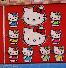 lot of 10 Hello Kitty IRON ON PATCHES