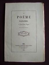 Le poème d'Alexandre, de Juan Lorenzo Segura