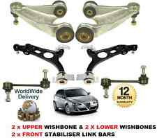 FOR ALFA ROMEO 147 00-10 2x UPPER & LOWER WISHBONE ARMS 2x STABILISER LINK BARS