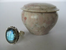 Labradorite Silver Ring Size 6.25 ~ Awesome bright flash