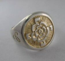 Solid silver Rosicrucian ring - 24282