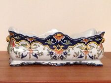 Antique French Rouen Pottery Jardinaire Formaintraux-Courquin Co Signed Desvres