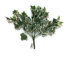 Artificial Variegated Ivy Leaf- 42 cm Green Bush Home Decor Craft Wedding Autumn